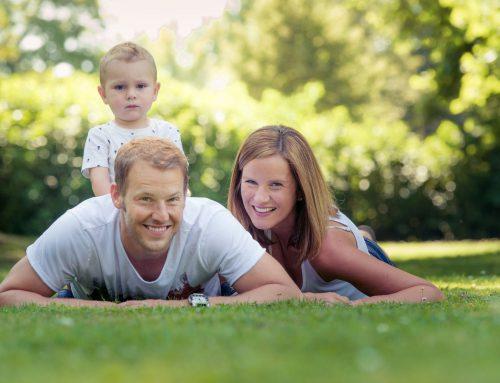 Familienfotos über Jahre hinweg
