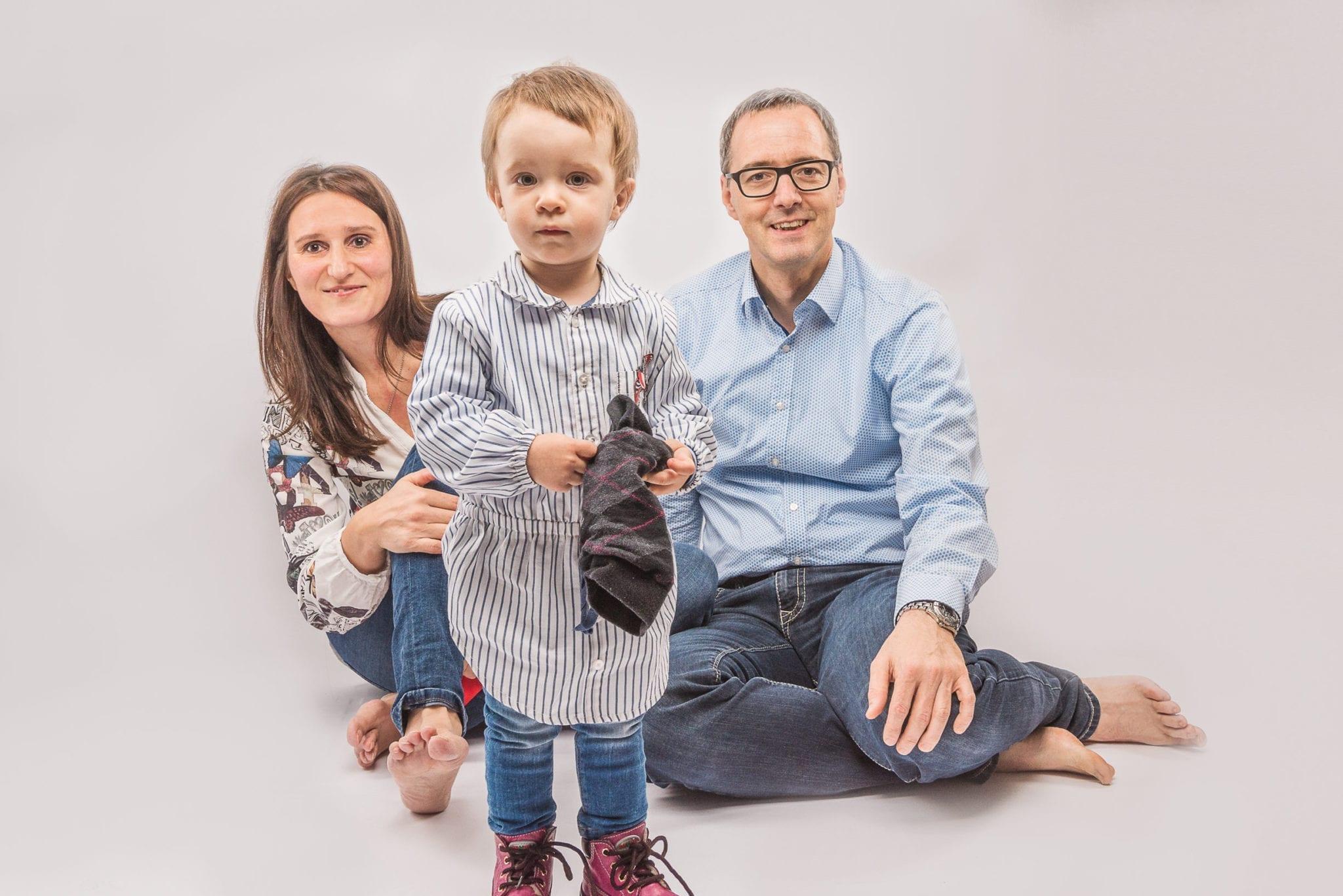 Familie im Studio