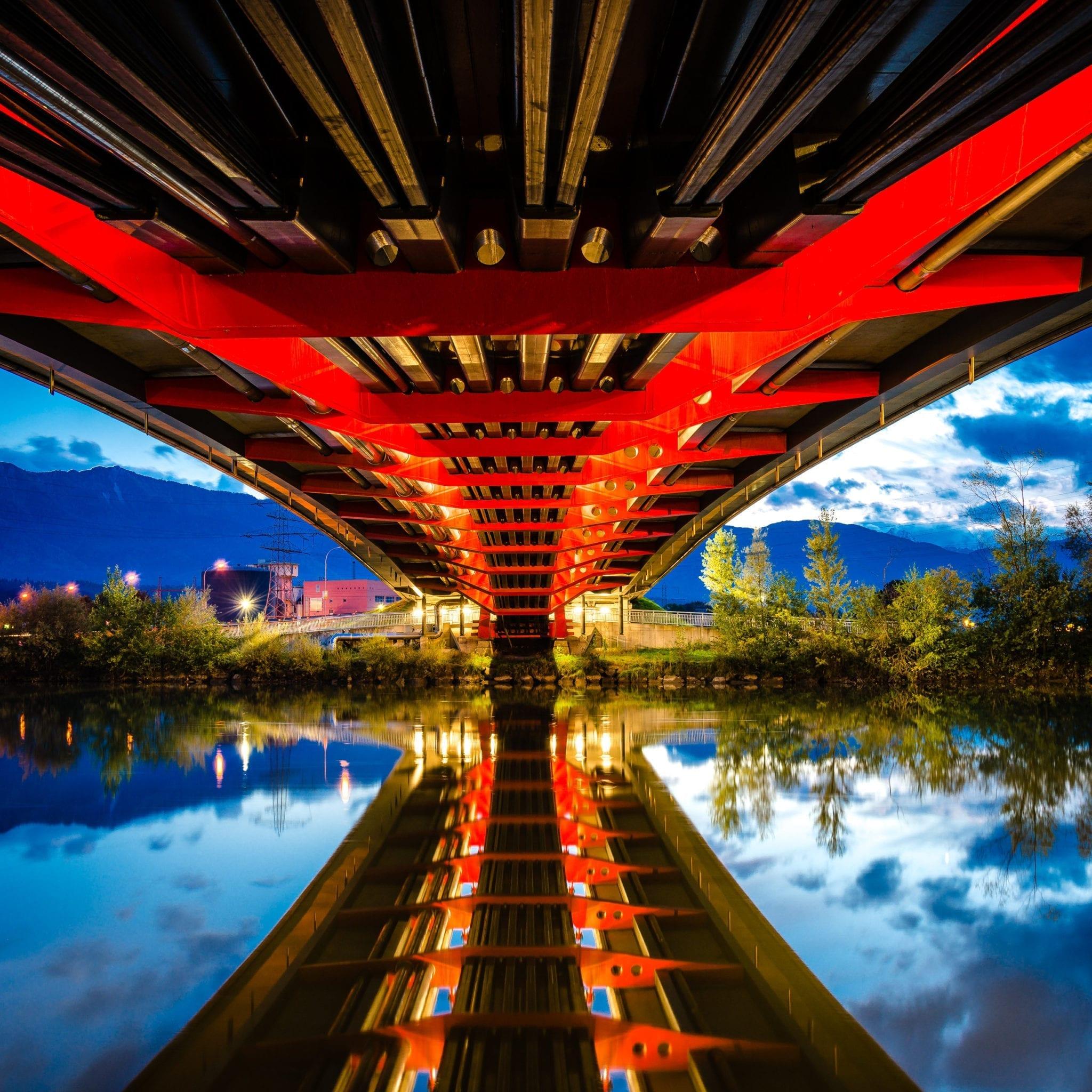 rote Brücke Villach