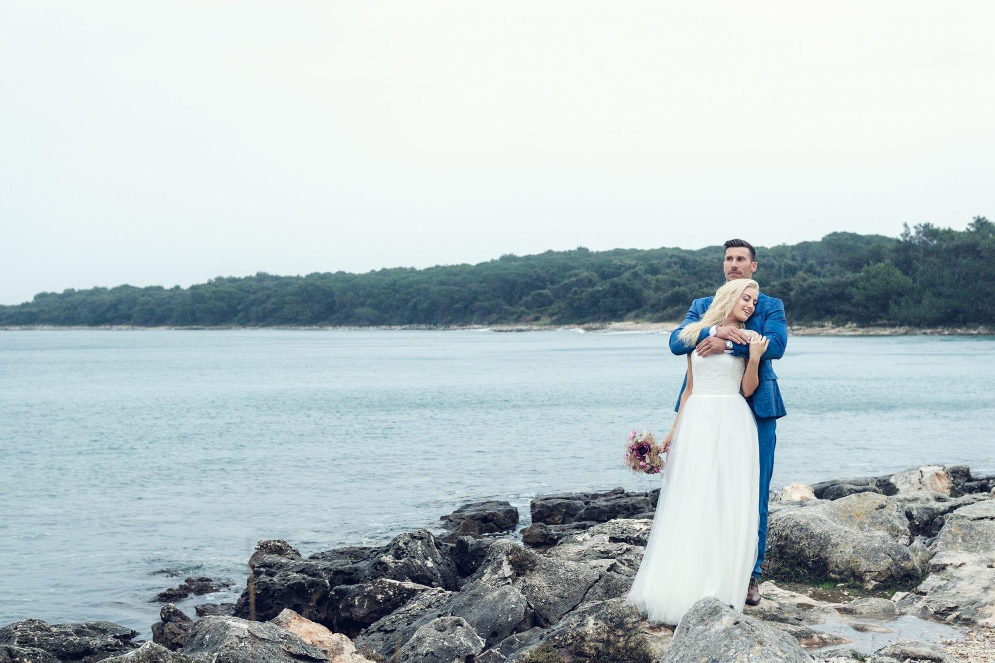 Hochzeitsfoto am Meer