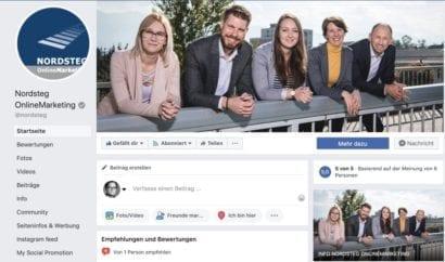 Nordsteg Facebook Titelseite