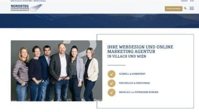 Nordsteg Webseite