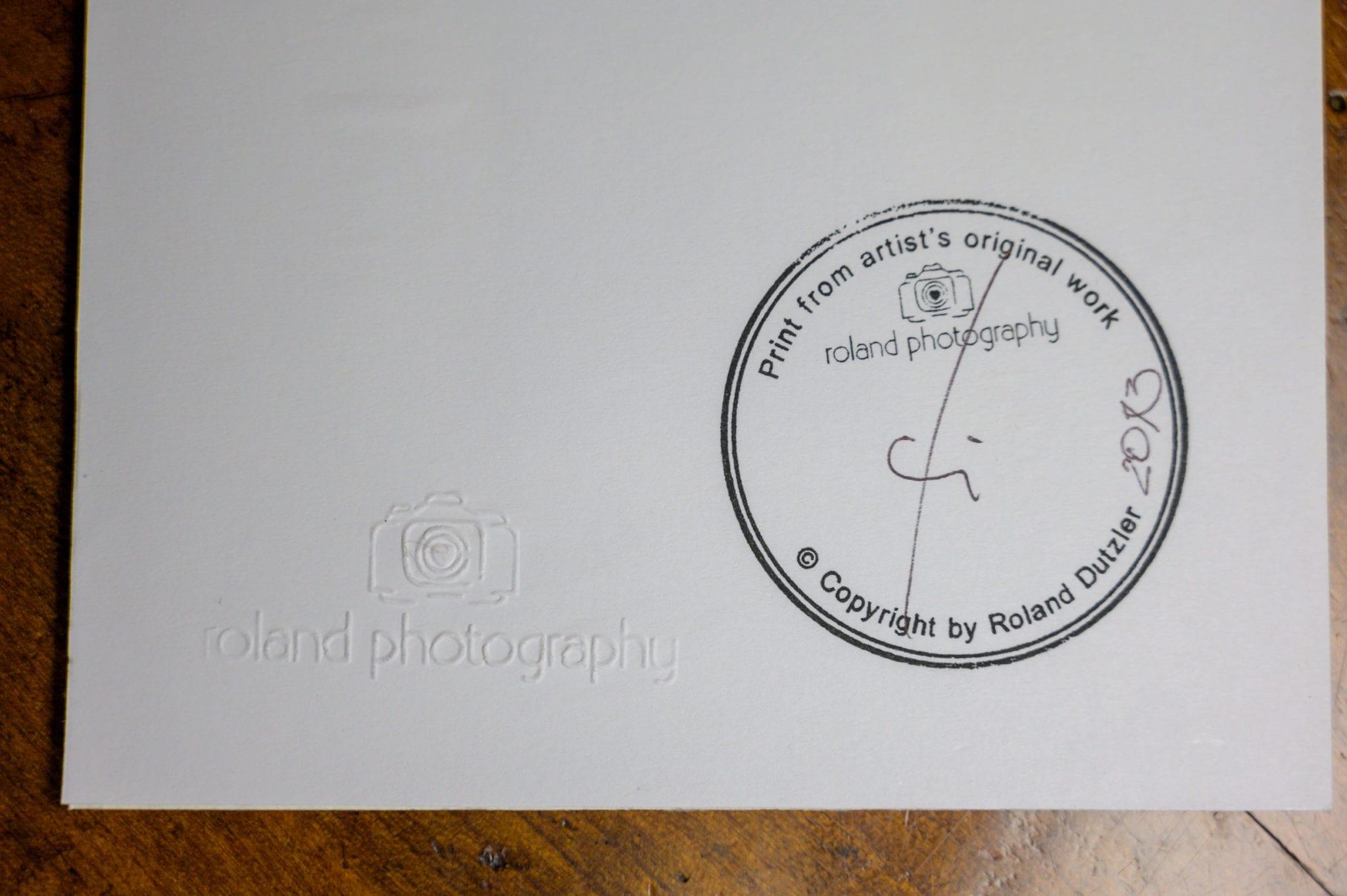Roland Photography Handsignierung