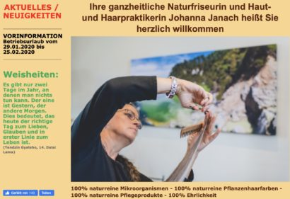 Businessfotograf - die Naturfriseurin